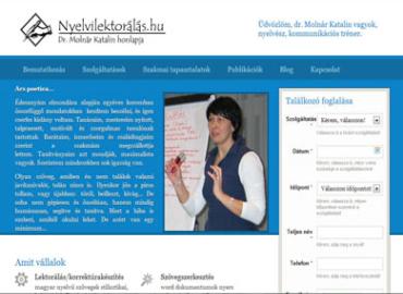 Nyelvi lektorálás honlap