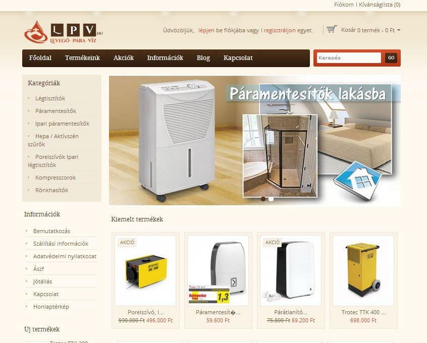 lpv.hu opencart weboldal