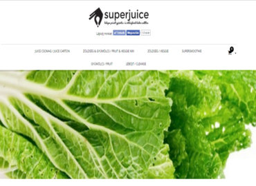 Superjuice woocommerce webshop