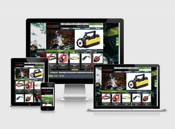 112shop webshop készítés