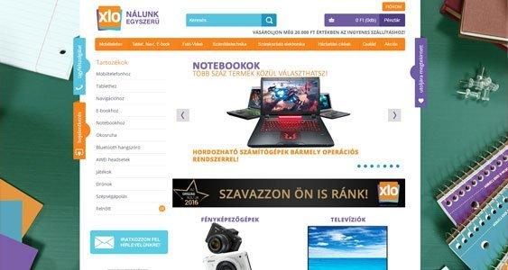 xlo.hu webshop opencart fejlesztés